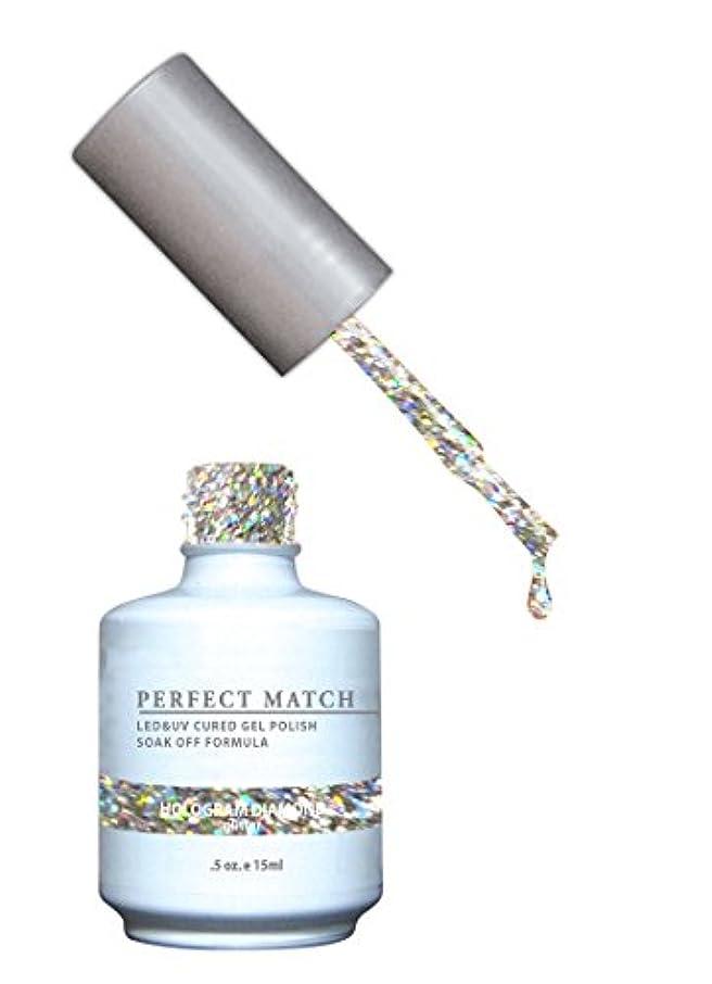 静める魅惑的なピットLeChat LECHATパーフェクトマッチマニキュア、 ホログラムダイヤモンド