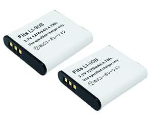≪ 2個 セット ≫ オリンパス OLYMPUS Li-90B 互換 バッテリー