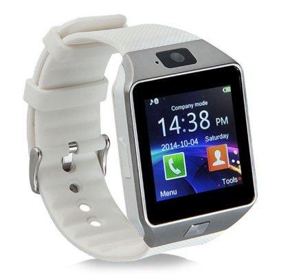 JIAZY 1.54インチ 超薄型フルタッチ スマートウォッチ 長座注意 歩数計 腕時計 通話機能搭載 Android/IOS対応(ホワイト)