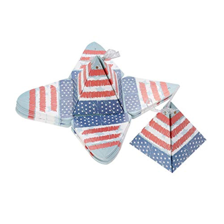 Amosfun 独立記念日キャンディーボックス7月4日の三角ピラミッドギフトボックス愛国党用品25PCS
