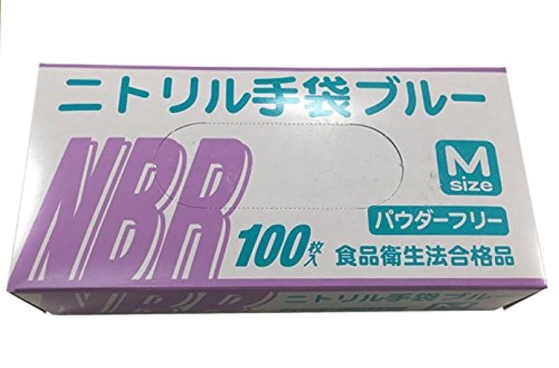 でる水素のぞき穴使い捨て手袋 ニトリル グローブ ブルー 食品衛生法合格品 粉なし 100枚入×20個セット Mサイズ