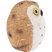 F Fityle 可愛い フクロウのモデル 樹脂製 工芸品 魅力的な クリスマス 贈り物 全3サイズ - ブラウンフクロウ8cm
