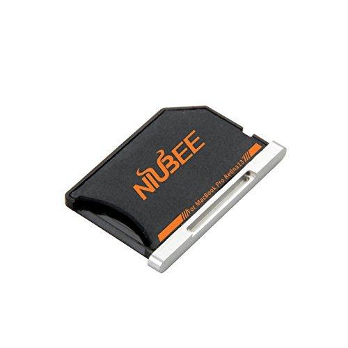 niubeeストレージ拡張SD / t-flashメモリカードアダプタfor MacBook Pro Retina 13インチ( 2012–2016)、アルミ合金エッジ