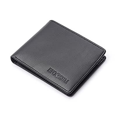 財布 メンズ EFOSHM二つ折り財布 本革 短財布 ギフト包装 防水 小銭入れお札入れ 大容量 カード収納 ビジネス 高品質 プレゼント