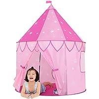 Joybee Children Play Tent with Playトンネルチューブ、Girls Princess Castle屋内/屋外の使用、ピンクアップグレード190tポリエステル47