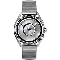 Emporio Armani Men's Quartz Smartwatch smart Display and Stainless Steel Strap, ART5006