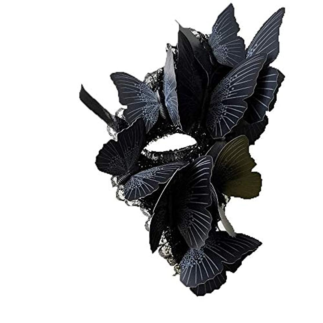 Nanle ハロウィーンの蝶単眼マスク仮装マスクレディミスプリンセス美しさの祭パーティ装飾 (色 : Style B, サイズ さいず : Right eye)