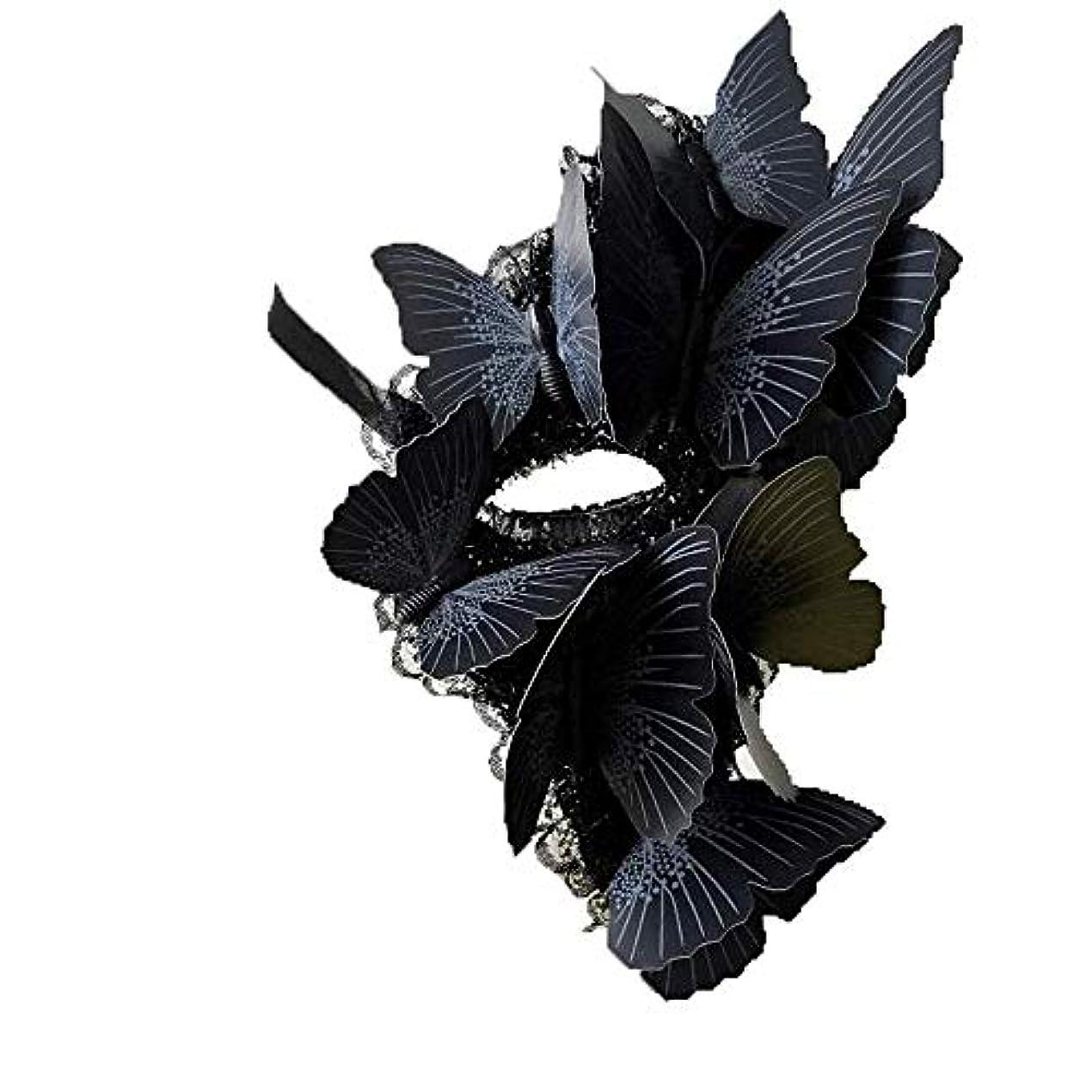 従来の形式追記Nanle ハロウィーンの蝶単眼マスク仮装マスクレディミスプリンセス美しさの祭パーティ装飾 (色 : Style B, サイズ さいず : Right eye)