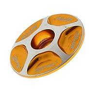 Homyl アルミニウム合金 自転車 ヘッドセット トップ キャップ スレッドレス ステム カバー  1/8 インチ 実用性 便利 全4色 - ゴールド