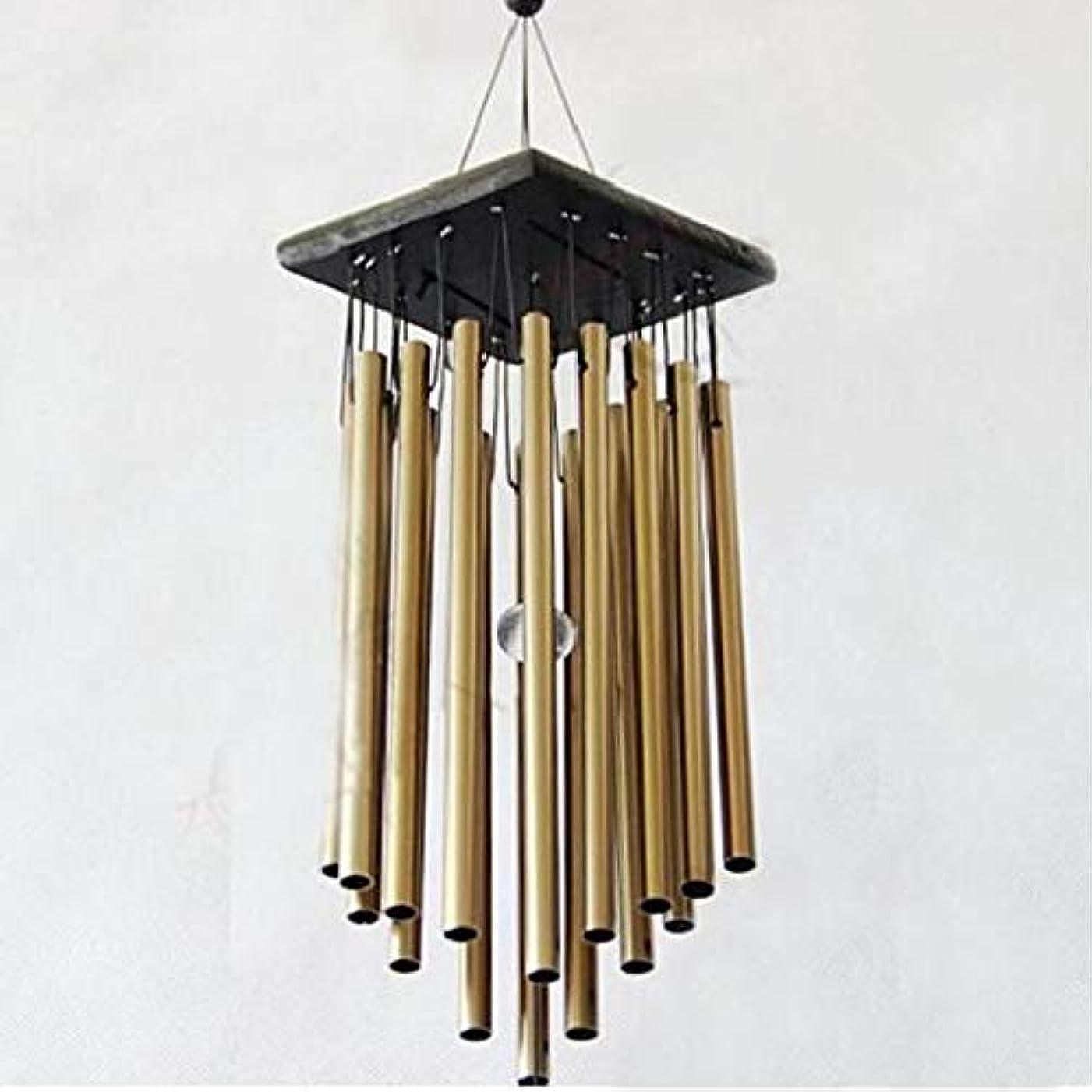 リードミリメートル震えるYougou01 風チャイム、メタル風チャイム16本のチューブ、イエロー、65CMについて全身をハンギング 、創造的な装飾