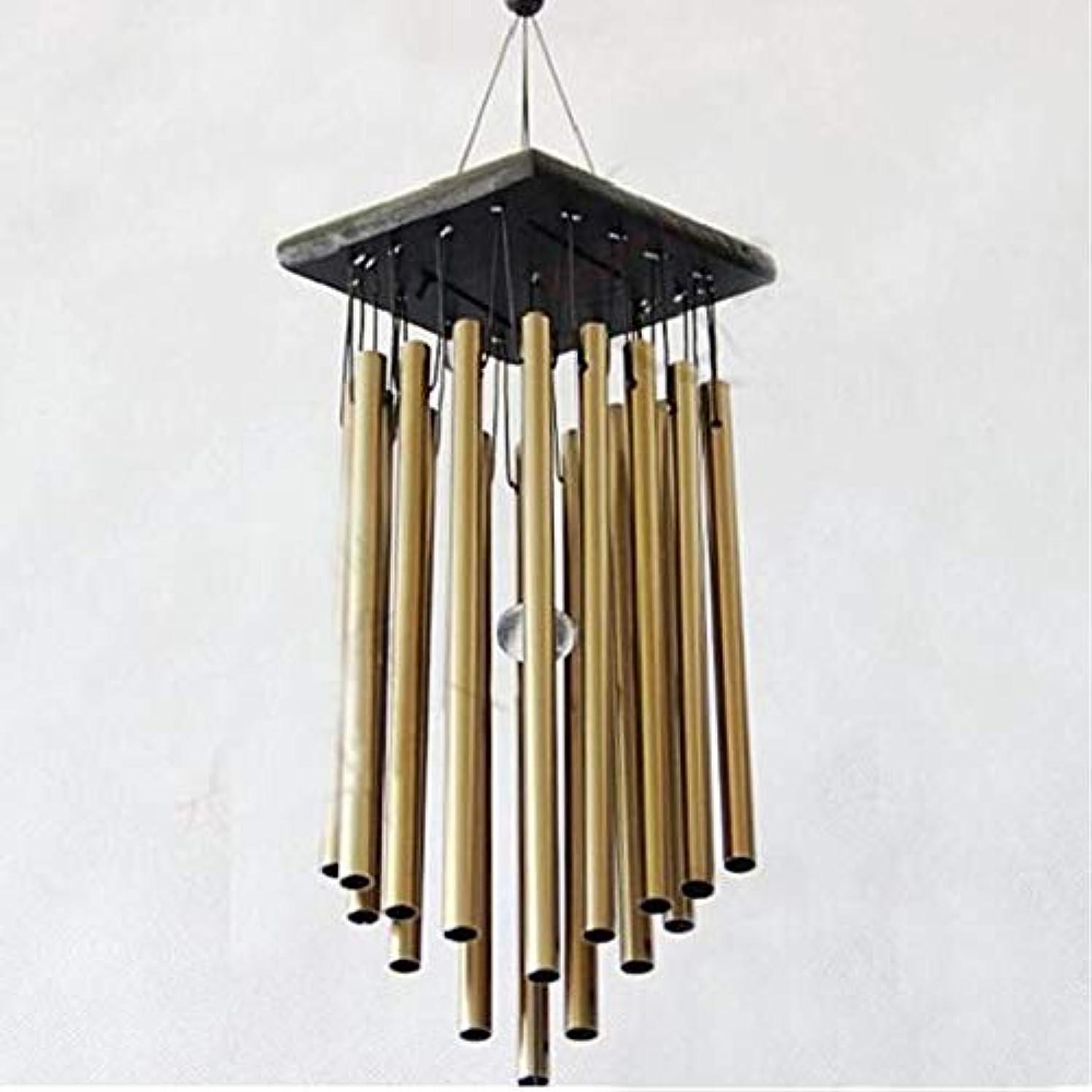 真似るなめらか補うYougou01 風チャイム、メタル風チャイム16本のチューブ、イエロー、65CMについて全身をハンギング 、創造的な装飾