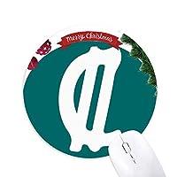 コスタリカ通貨記号コロンCRC クリスマスツリーの滑り止めゴム形のマウスパッド