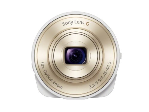 Sony DSC-QX10/W Smartphone Attachable Lens-Style Camera 4.45-44.5mm Interchangeable Lens for Other Cameras (IMPORT)