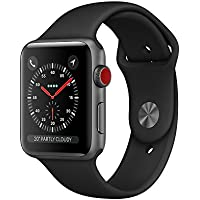 Apple Watch Series3 スペースグレイアルミニウムケースとブラックスポーツバンド アップルウォッチ シリーズ3 本体 (42mm, GPS+セルラーモデル)