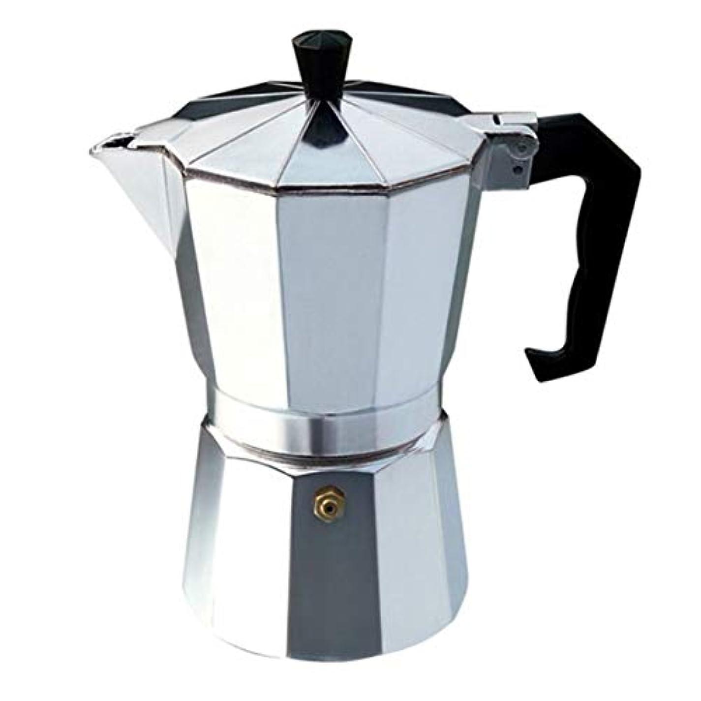 矩形体陰気Saikogoods ナガXuefeiイタリアコーヒーブラックコーヒーモカコーヒー 実用的なギフト 簡単にクリーンアップするためにアルミ真岡鍋 Octangleコーヒーメーカー 銀 6カップ