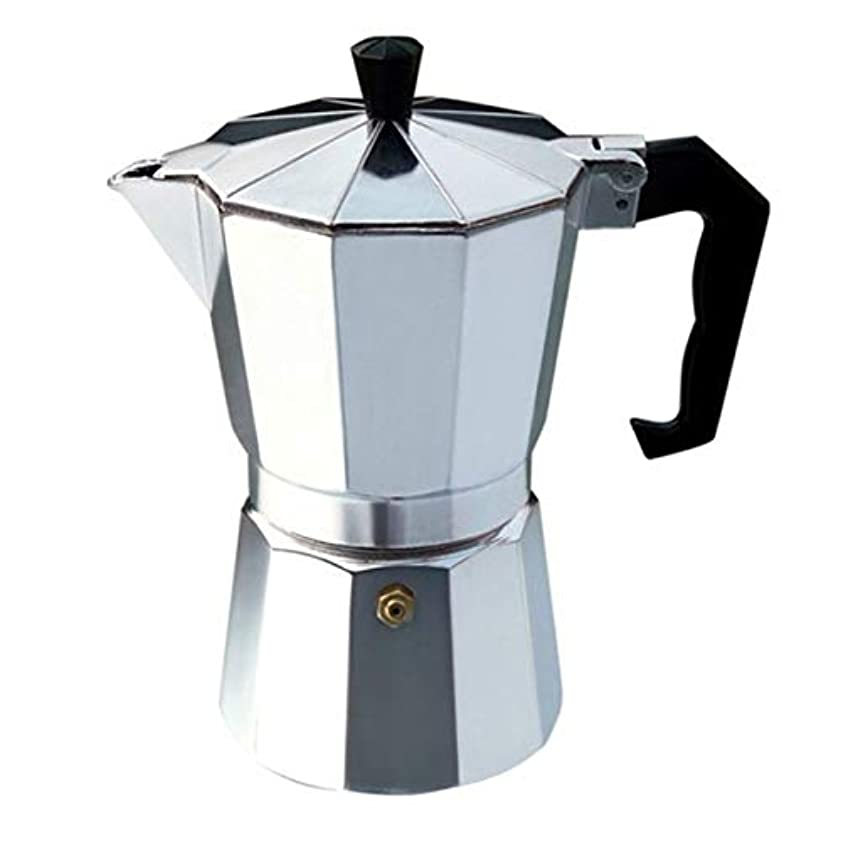 九時四十五分カッターポーターSaikogoods ナガXuefeiイタリアコーヒーブラックコーヒーモカコーヒー 実用的なギフト 簡単にクリーンアップするためにアルミ真岡鍋 Octangleコーヒーメーカー 銀 6カップ