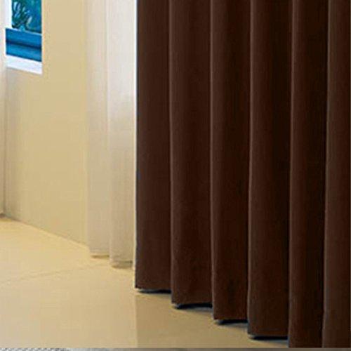 窓美人 半間 アラカルト 1級遮光カーテン 1枚入 幅100×丈185cm ビターチョコレート 断熱・遮熱・防音 高級フルダル生地