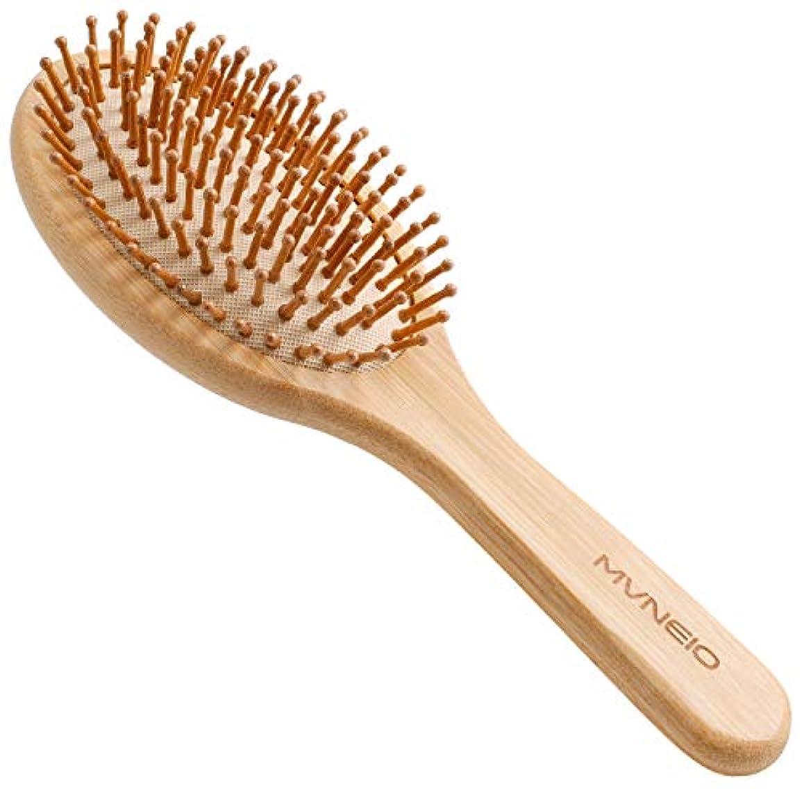 上流の味付け本体ヘアブラシ 竹製櫛 くし ヘアケア 頭皮マッサージ 静電気防止 パドルブラシ 美髪ケア 頭皮に優しい メンズ レディースに適用