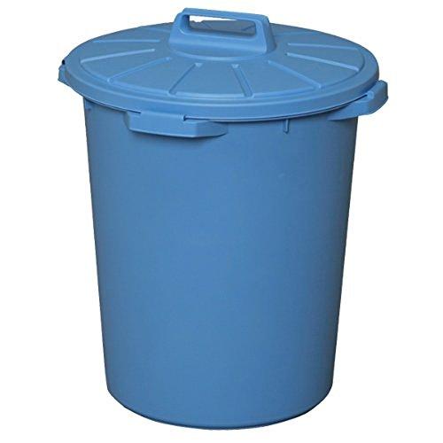 アイリスオーヤマ ゴミ箱 丸型 ブルー 45L 直径46.5×高さ54.5cm MA-45