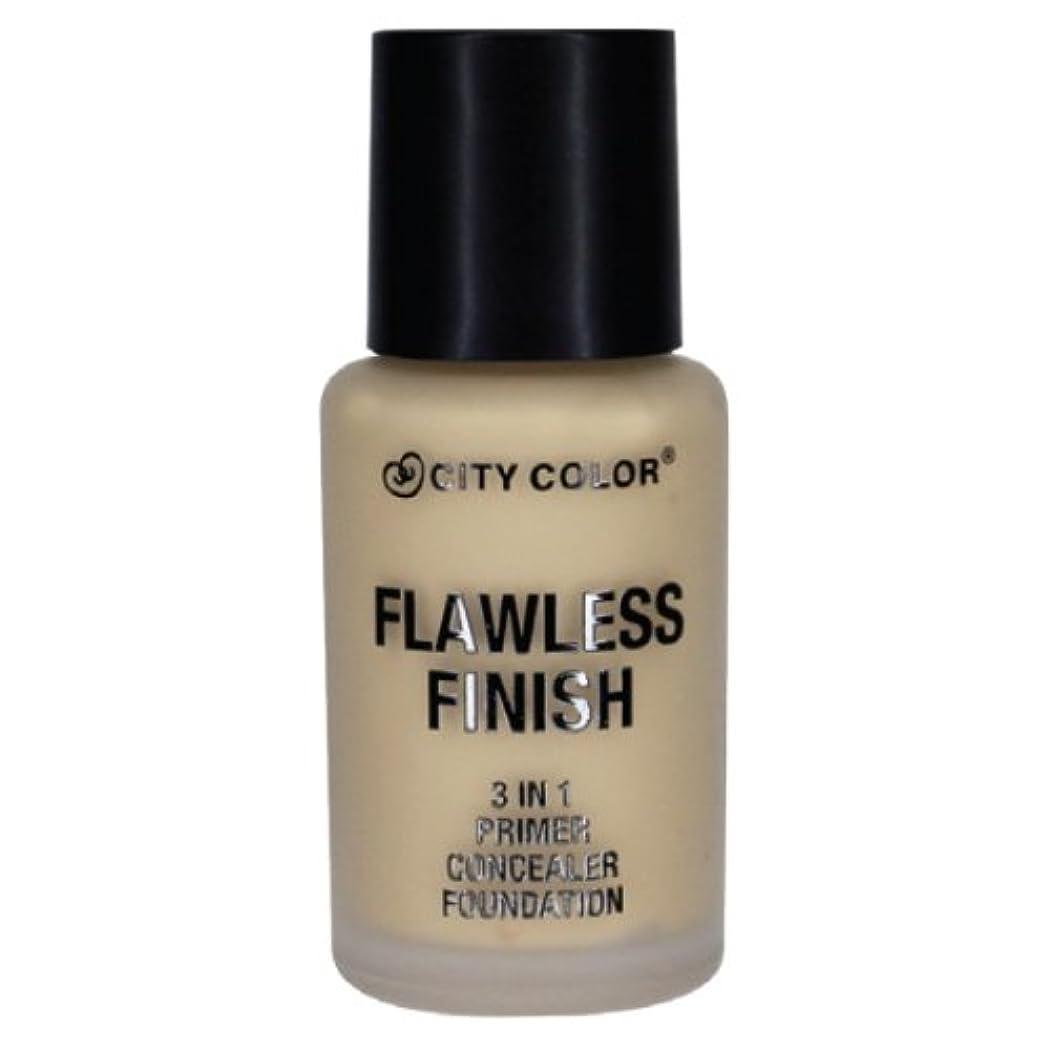 借りている運動ペン(6 Pack) CITY COLOR Flawless Finish 3 In 1 Primer, Concealer Foundation - Soft Beige (並行輸入品)