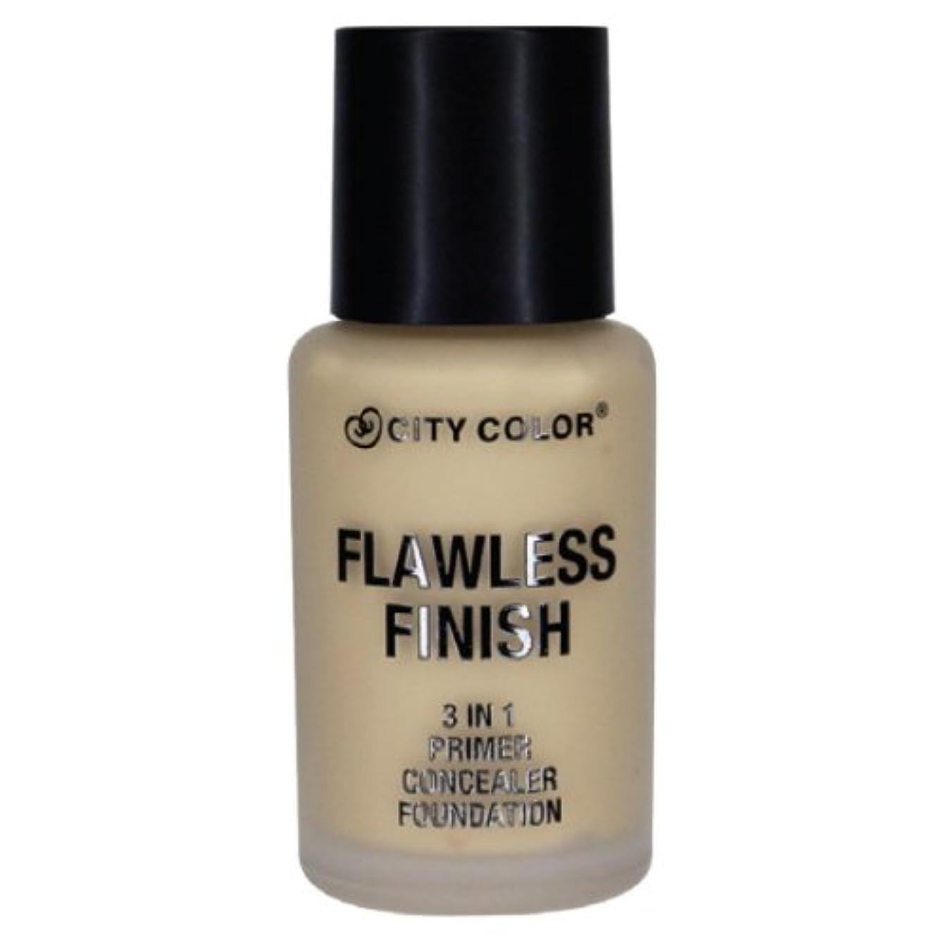 (6 Pack) CITY COLOR Flawless Finish 3 In 1 Primer, Concealer Foundation - Soft Beige (並行輸入品)