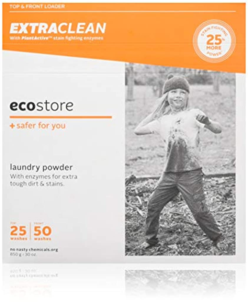 生産性人質不振ecostore エコストア ランドリーパウダー 【エクストラクリーン 】 850g 汚れ落とし 洗濯 洗剤