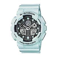 Casio G Shock Men's 'G-Shock' Quartz Resin Sport Watch, Color:White (Model: GA-100LG-8ACR)