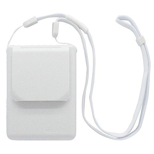 大作商事 マイファンモバイル 首にかけるパーソナル扇風機 ホワイト 111.5×90×36.6mm MAGICOOL MM1WH