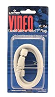 Leviton C6851-3W RG6 Coax Cable, Nickel Plated, 3-Feet, White [並行輸入品]