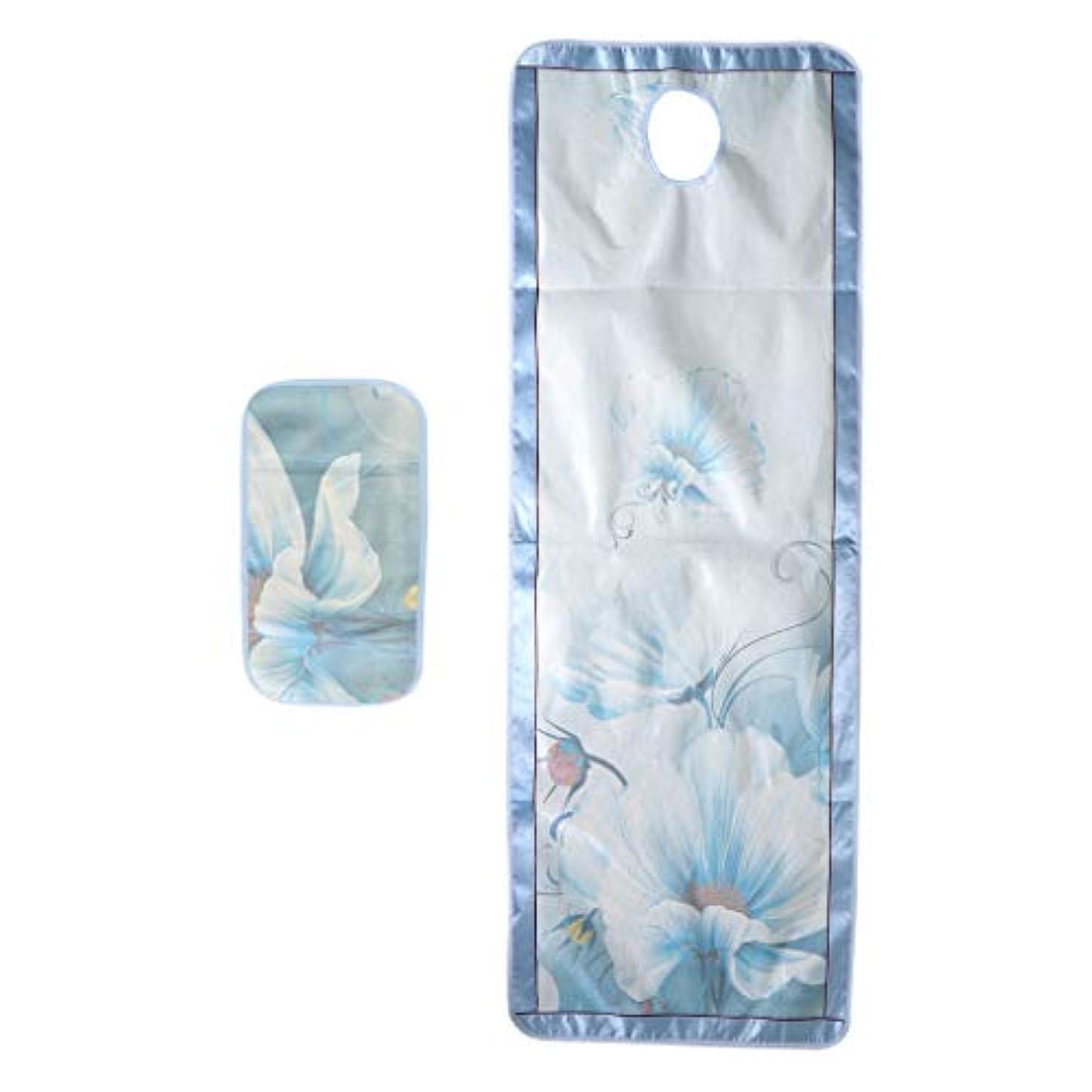 袋組み込む隠されたマッサージベッドカバー 有孔 スパ ビューティー 冷感シーツ サロン 美容院 手入れ簡単 - スタイル2