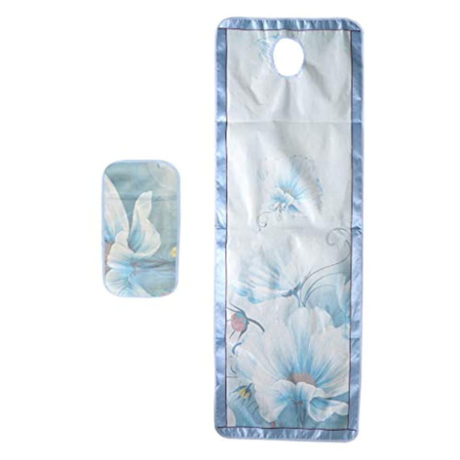 スプリット乳白ハッチPETSOLA マッサージベッドカバー 有孔 スパ ビューティー 冷感シーツ サロン 美容院 手入れ簡単 - スタイル2