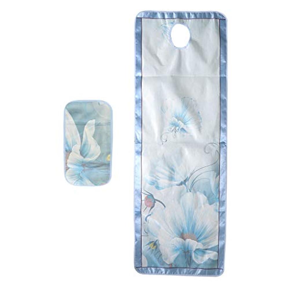 打ち負かすお風呂を持っているマッシュマッサージベッドカバー 有孔 スパ ビューティー 冷感シーツ サロン 美容院 手入れ簡単 - スタイル2