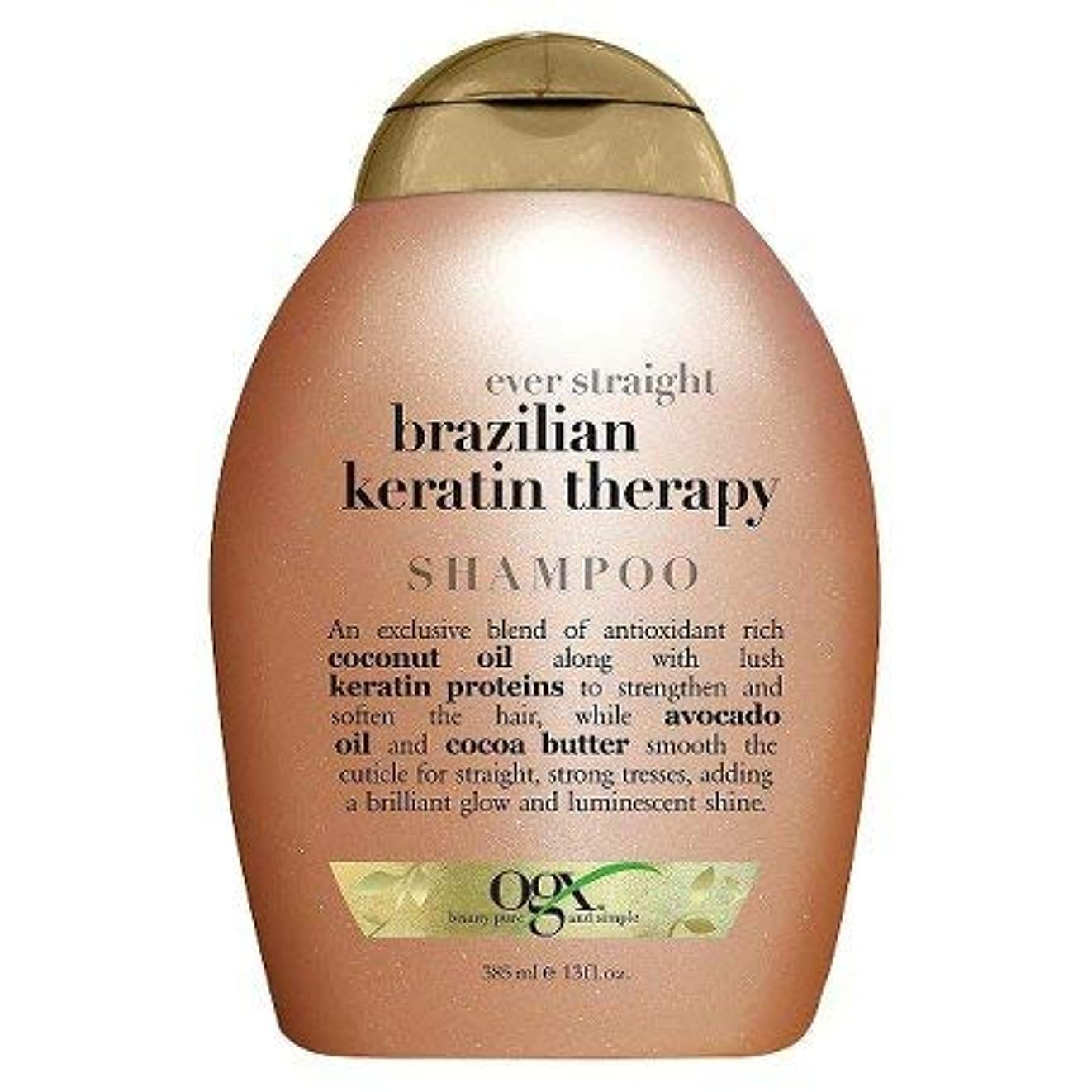 サーキュレーションいわゆる依存するOGX Ever Straight Sulfate & Sodium Free Brazilian Keratin Therapy Shampoo 360ml エヴァーストレートブラジルケラチンセラピーシャンプーシャンプー...