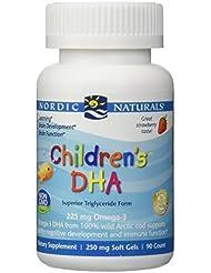海外直送品Nordic Naturals Children''s DHA Strawberry, Strawberry 90 softgels 250 mg