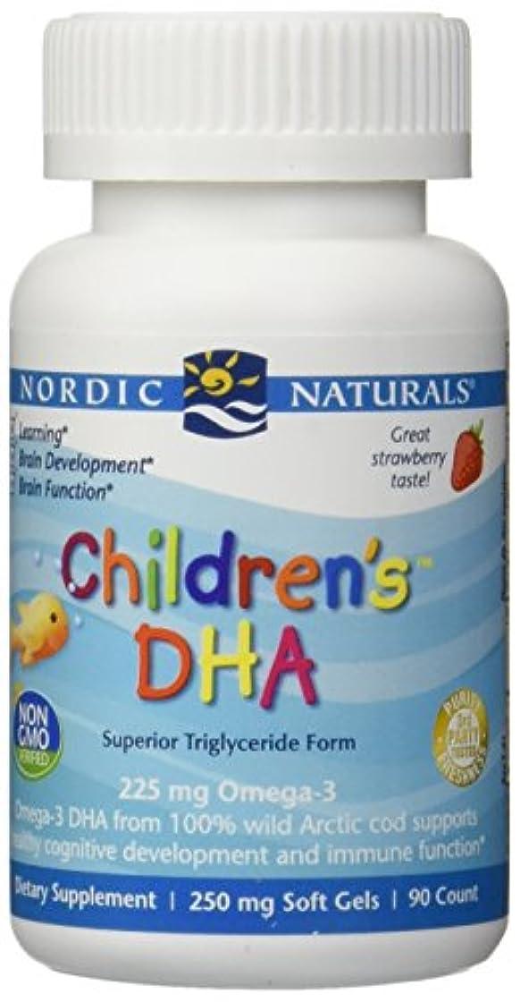 遮るウッズ起点海外直送品Nordic Naturals Children''s DHA Strawberry, Strawberry 90 softgels 250 mg