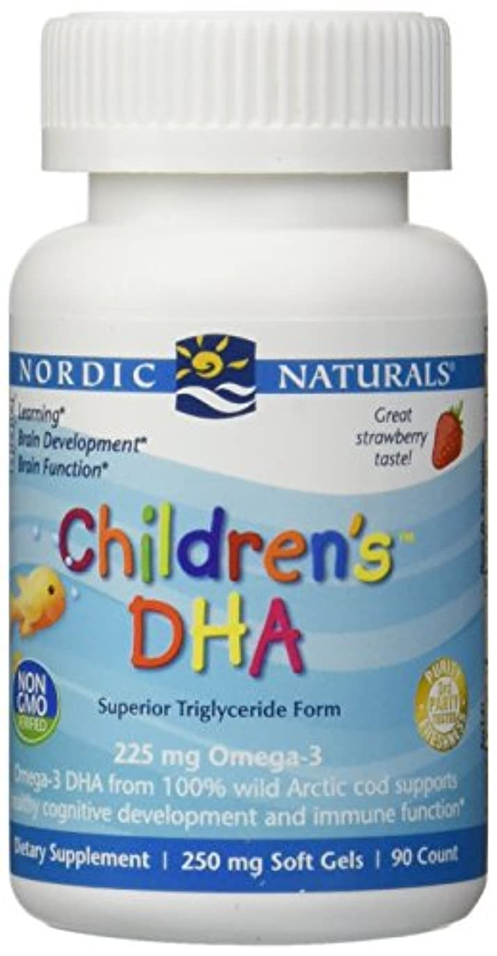 突き出すホースシャンプー海外直送品Nordic Naturals Children''s DHA Strawberry, Strawberry 90 softgels 250 mg