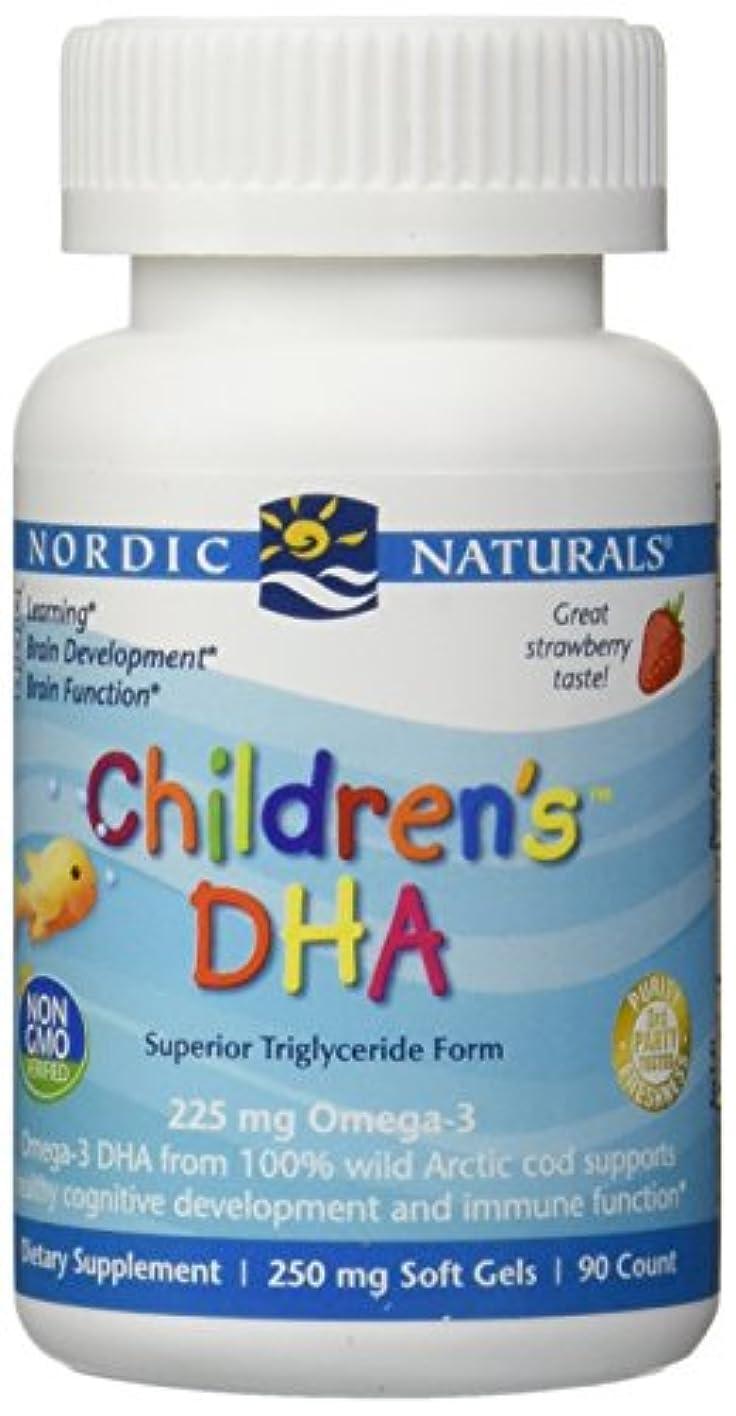 不良キャッシュミュウミュウ海外直送品Nordic Naturals Children''s DHA Strawberry, Strawberry 90 softgels 250 mg
