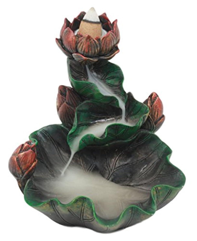 居住者音声学虚偽Ebros Feng Shui Zen Lotus Blossom Backflow Incense円錐BurnerタワーStatue 4.25
