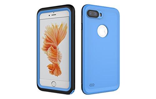 Iphone 7 Plus 防水電話ケースは、HBER IP68完全密閉水泳ダイビング水中防塵耐雪性の耐震ヘビーデューティケースカバーは、iphone7 plusのために敏感な画面タッチ指紋認証ロック解除をサポートしています (青)