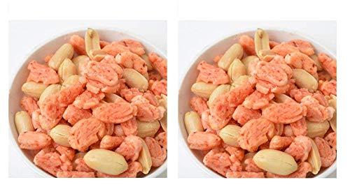 みの屋 ピーナッツ入りえびあられ 500g 塩味 × 2袋 (【セット買い】2袋)