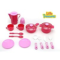 Little Treasures Kitchen Play Toy Set for Children Pretend play Cooking & Serving Kit [並行輸入品]