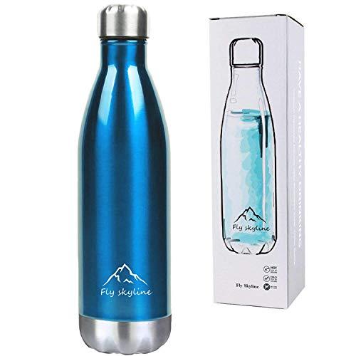 稲植屋 水筒 ステンレス 保温保冷 真空断熱 スポーツボトル コカコーラボトル 500ml (ブルー)