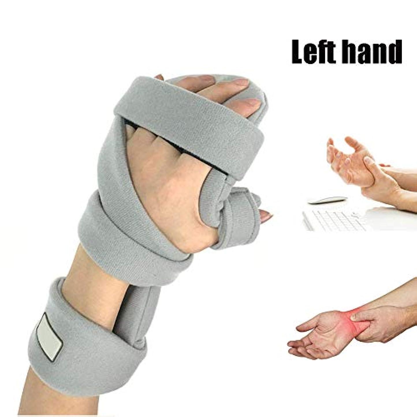 フォルダクマノミ検出可能手首 固定 サポーター 、指副木、手根管捻rainおよび関節炎の痛み緩和,Right