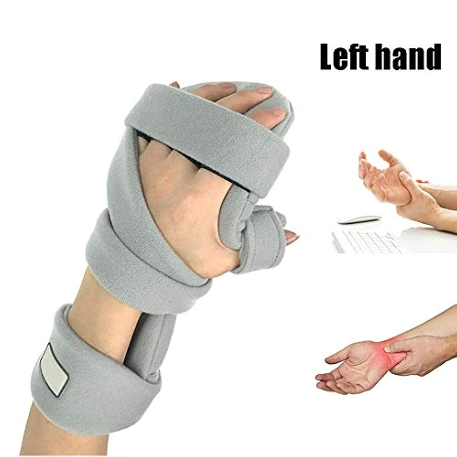 イブニング方向隣人手首 固定 サポーター 、指副木、手根管捻rainおよび関節炎の痛み緩和,Right