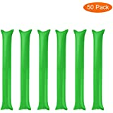 Thunder Sticks 50 Pack, Inflatable Stadium Noisemakers Bam Bam Cheer Sticks Blow Bar Inflatable Boom Sticks Noisemakers Stick Basketball Football Noisemakers Party Favors