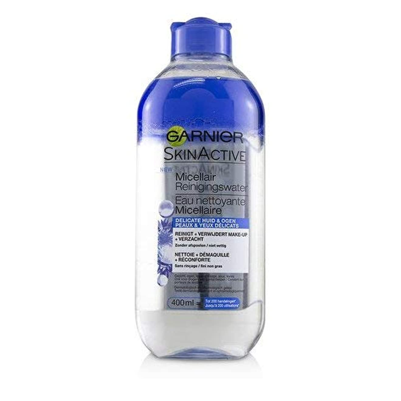 行動代表する動ガルニエ SkinActive Micellar Water (For Face & Eyes) - For Delicated Skin 400ml/13.3oz並行輸入品