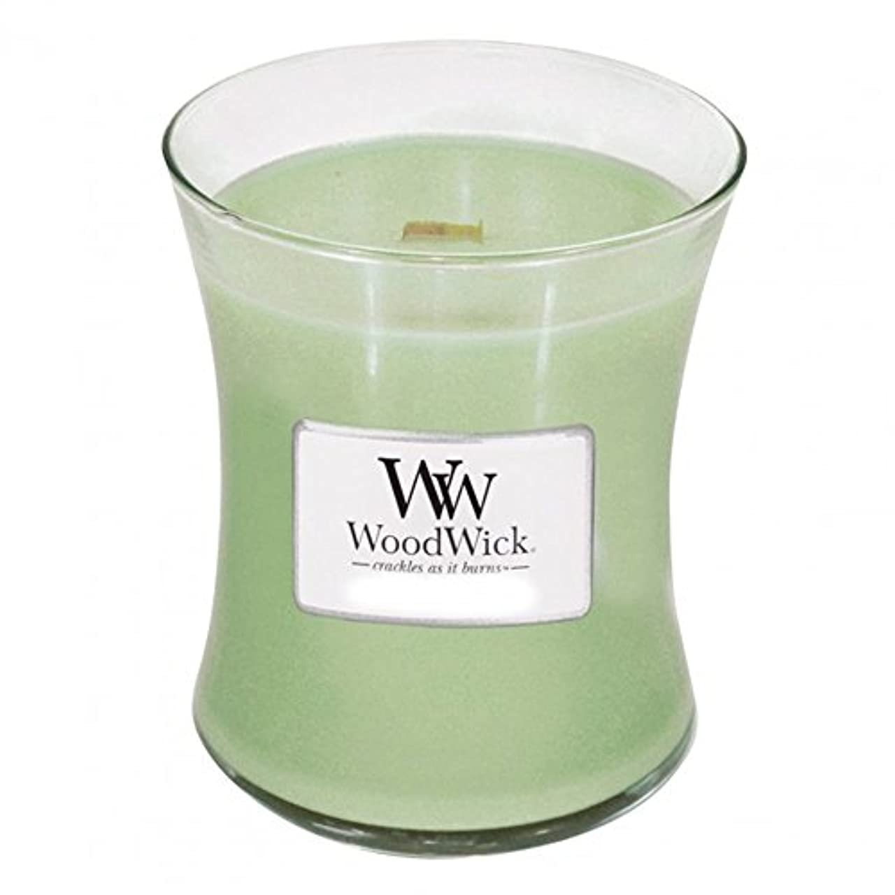疲労つま先柔和(300ml, Green) - Woodwick Jar Candle (Medium) (Applewood)