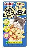 日本製 Japan いなば 猫用おやつ 焼ミックス 魚介スープ味・かに風味・ほたて 25g QSC-125