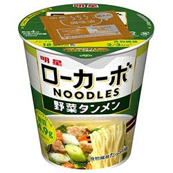 明星 ローカーボNOODLES 野菜タンメン 57g×12個入り (1ケース)