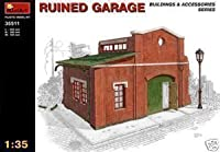 Miniart 1: 35blitzed ruinedガレージモデルキット35511diorama buildingsアクセサリー